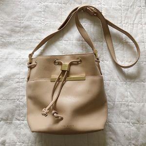 Ted Baker Bucket Crossbody Bag in Natural
